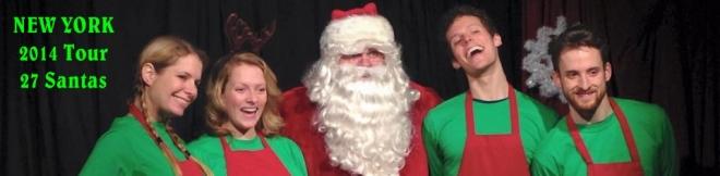 27 Santas and an Elf Called Kevin www.27SantasNYC.com